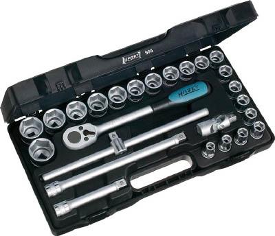 [HAZET]HAZET ソケットレンチセット(6角タイプ・差込角12.7mm) 900[作業用品 作業灯・照明用品 投光器 HAZET社]【TC】【TN】