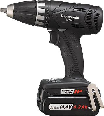 注目 ドリルドライバー パナソニック(株)エコソリューショ]【TC】【TN】:ゆにでのこづち [Panasonic]パナソニック Panasonic ドリルドライバ14.4V 4.2Ah(ブラック)EZ7441LS2SB[電動工具・油圧工具-DIY・工具