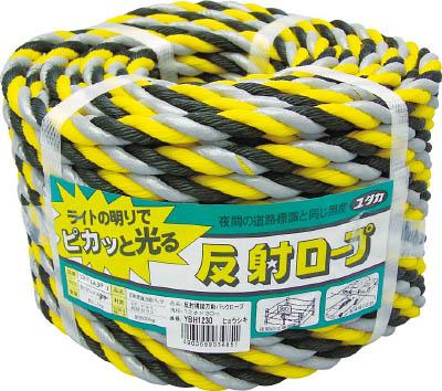 【ユタカ】ロープ 反射標識万能パックロープ 12φ×30m ヒョウシキ YBH1230【TN】【TC】【保安用品】
