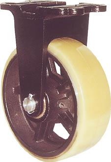 【ヨドノ】鋳物重量用キャスター MUHA-MK250X90【TN】【TC】【鋳物製金具キャスター(ゴム車・ウレタン車)/重荷重用キャスター/キャスター/ヨドノ】