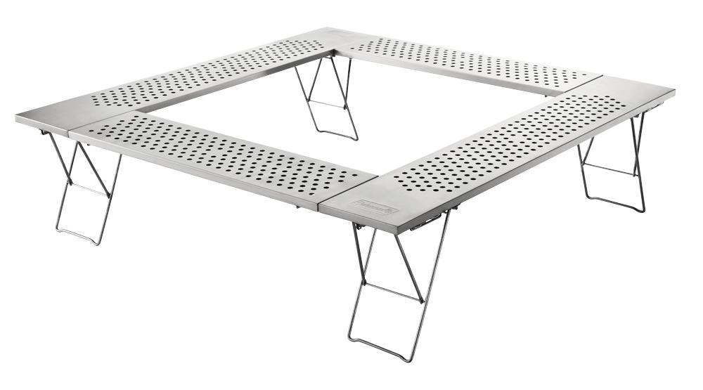 Coleman(コールマン)ファイアープレーステーブル 2000010397[アウトドア BBQ バーベキュー キャンプ テーブル アウトドアテーブル ステンレス製テーブル]【TC】【NW】