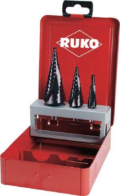 【RUKO】RUKO 2枚刃スパイラルステップドリルセット 3本組 チタンアルミウム 101026F[RUKO ドリル切削工具穴あけ工具ステップドリル]【TN】【TC】