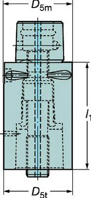 【サンドビック】サンドビック コロマントキャプト エクステンションアダプタ C6391.01R63060[サンドビック ホルダー切削工具旋削・フライス加工工具ホルダー]【TN】【TC】