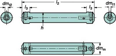 【サンドビック】サンドビック コロターンXS 小型旋盤アダプタ CXSA1607[サンドビック ホルダー切削工具旋削・フライス加工工具ホルダー]【TN】【TC】