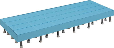 【TRUSCO】TRUSCO 樹脂ステップ高さ調節式側板付600X900 H200-220 DS6090HG[TRUSCO マット          工事用品はしご・脚立低床型作業台]【TN】【TC】