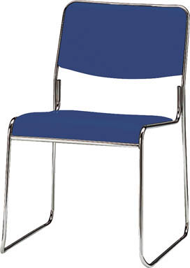 【取寄】【TOKIO】TOKIO スタッキングチェア メッキ脚タイプ ビニールレザー リーフグリーン FSC15MLLG[TOKIO 椅子オフィス住設用品オフィス家具会議用チェア]【TN】【TC】