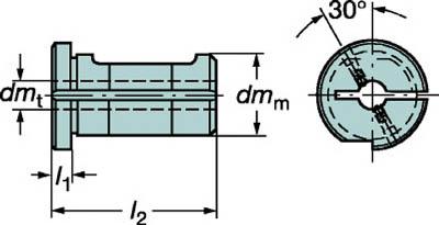 【サンドビック】サンドビック 丸シャンクバイト用イージーフィックススリーブ 132W4020B[サンドビック ホルダー切削工具旋削・フライス加工工具ホルダー]【TN】【TC】