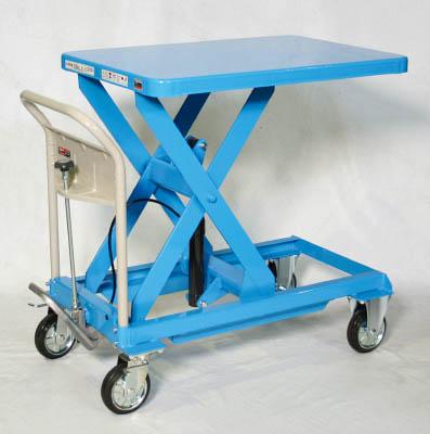 【取寄】【TRUSCO】TRUSCO ハンドリフター 500kg 600X900 ブルー HLFS500B[TRUSCO HAリフター       物流保管用品リフター・ハンドパレット移動式リフター]【TN】【TC】