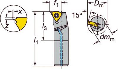 【サンドビック】サンドビック T-Max U-ロック ねじ切りボーリングバイト L166.0KF16122011B[サンドビック ホルダー切削工具旋削・フライス加工工具ホルダー]【TN】【TC】