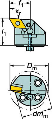 【サンドビック】サンドビック コロターンSL 570カッティングヘッド L571.35C40322715[サンドビック ホルダー切削工具旋削・フライス加工工具ホルダー]【TN】【TC】