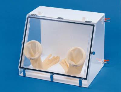 【取寄】【新光】新光 グローブボックス(アクリル・殺菌灯付) M10[新光 デシケーター研究管理用品研究機器研究用設備]【TN】【TC】