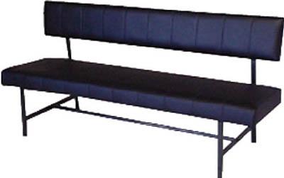 【取寄】【ミズノ】ミズノ ロビーチェア 背付き 黒 MC1215[ミズノ 長椅子オフィス住設用品オフィス家具ロビーチェア]【TN】【TD】