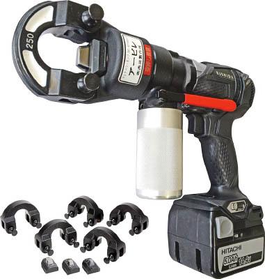 【西田】西田 アービレ黒+端子圧着ヘッドセット NCAMA250G[西田 パンチ作業用品電設工具油圧式圧着工具]【TN】【TC】