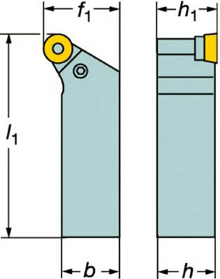 【サンドビック】サンドビック T-Max P ポジチップ用シャンクバイト PRGCL2020K12[サンドビック ホルダー切削工具旋削・フライス加工工具ホルダー]【TN】【TC】