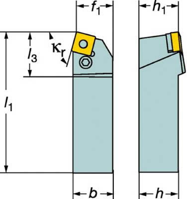 【サンドビック】サンドビック T-Max P ネガチップ用シャンクバイト PSBNL3225P12[サンドビック ホルダー切削工具旋削・フライス加工工具ホルダー]【TN】【TC】