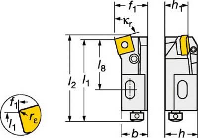 【サンドビック】サンドビック T-Max P ネガチップ用シャンクバイト PSKNR2525M12[サンドビック ホルダー切削工具旋削・フライス加工工具ホルダー]【TN】【TC】