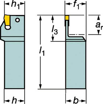 【サンドビック】サンドビック T-Max Q-カット 突切り・溝入れ用シャンクバイト R151.21252540A[サンドビック ホルダー切削工具旋削・フライス加工工具ホルダー]【TN】【TC】