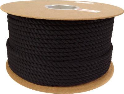 【ユタカ】ユタカ ロープ 綿ロープドラム巻 9φ×150m ブラック PRC51[ユタカ ロープ環境安全用品シート・ロープロープ]【TN】【TC】