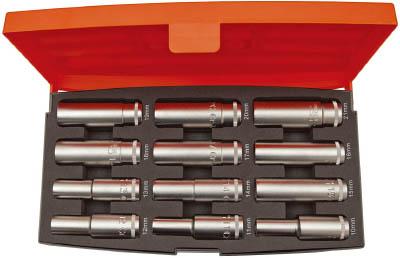 【バーコ】バーコ 1/2ソケットセット S1612L[バーコ レンチ作業用品ソケットレンチソケット]【TN】【TC】