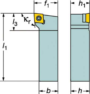 【サンドビック】サンドビック コロターン107 ポジチップ用シャンクバイト SCLCL2525M12[サンドビック ホルダー切削工具旋削・フライス加工工具ホルダー]【TN】【TC】