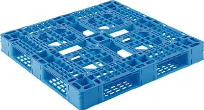 【取寄】【サンコー】サンコー プラスチックパレット D4ー1111ー8 青 SKD411118BL[サンコー パレット物流保管用品コンテナ・パレットパレット]【TN】【TC】