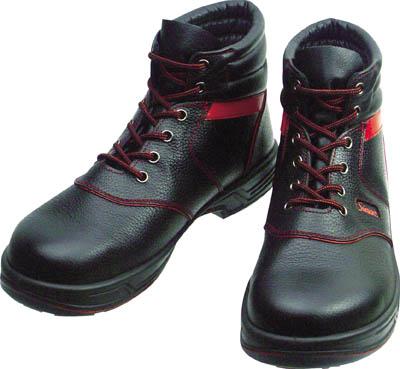 【シモン】シモン 安全靴 編上靴 SL22-R黒/赤 25.5cm SL22R25.5[シモン 靴環境安全用品安全靴・作業靴安全靴]【D】