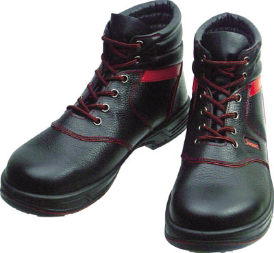 【シモン】シモン 安全靴 編上靴 SL22-R黒/赤 28.0cm SL22R28.0[シモン 靴環境安全用品安全靴・作業靴安全靴]【D】