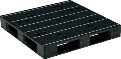 【取寄】【サンコー】サンコー プラスチックパレットLX-1111D4 ブラック SKLX1111D4BK[サンコー パレット物流保管用品コンテナ・パレットパレット]【TN】【TC】