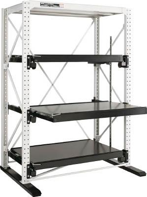 【取寄】【ダイフク】ダイフク スライドラック 1トン ハーフストローク 独立 SLNFH1T3SD[ダイフク 重量棚物流保管用品物品棚金型収納ラック]【TN】【TD】