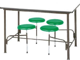 【取寄】【ニシキ】ニシキ 食堂テーブル 4人掛 グリーン STM1275GN[ニシキ 会議テーブルオフィス住設用品オフィス家具食堂用テーブル]【TN】【TD】