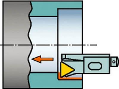 【サンドビック】サンドビック コロターン107 ポジチップ用カートリッジ STFCR12CA16M[サンドビック ホルダー切削工具旋削・フライス加工工具ホルダー]【TN】【TC】