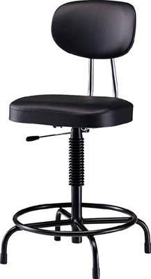 【取寄】【ノーリツ】ノーリツ 高作業用チェア ビニールレザー ブラック TF202L[ノーリツ 椅子オフィス住設用品オフィス家具作業用チェア]【TN】【TD】
