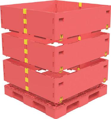 【TRUSCO】TRUSCO マルチステージコンテナ 3段 1100X1100 赤 TMSCS1111R[TRUSCO パレットIG物流保管用品コンテナ・パレットパレット]【TN】【TC】