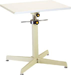 【取寄】【丸善】丸善 ジャッキアップ式補助デスク スチール製テーブル 固定式400×400mm TRS400S[丸善 作業台物流保管用品作業台昇降式作業台]【TN】【TD】