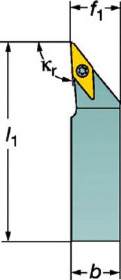 【サンドビック】サンドビック コロターンTR シャンクバイト TRV13JBR2020K[サンドビック ホルダー切削工具旋削・フライス加工工具ホルダー]【TN】【TC】