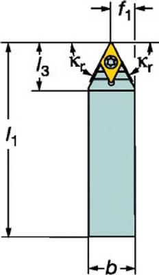 【サンドビック】サンドビック コロターンTR シャンクバイト TRD13NCN3225P[サンドビック ホルダー切削工具旋削・フライス加工工具ホルダー]【TN】【TC】