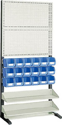【TRUSCO】TRUSCO UPR型パンチングラック 棚板2段 VN-2NX18個付 UPR208N[TRUSCO ラック物流保管用品工場用保管設備パネルラック]【TN】【TC】