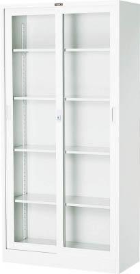 【取寄】【TRUSCO】TRUSCO スタンダード書庫(D400) ガラス引違 880XH1790 W色 W603G[TRUSCO AL書庫オフィス住設用品オフィス家具書庫]【TN】【TC】