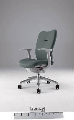 【取寄】【ナイキ】ナイキ ミドルバックチェアー 「エネア」 肘付き 布 グレー ZE511FGL[ナイキ 椅子オフィス住設用品オフィス家具オフィスチェア]【TN】【TC】