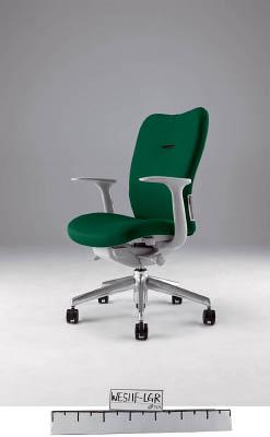 【取寄】【ナイキ】ナイキ ミドルバックチェアー 「エネア」 肘付き 布 グリーン ZE511FGR[ナイキ 椅子オフィス住設用品オフィス家具オフィスチェア]【TN】【TC】