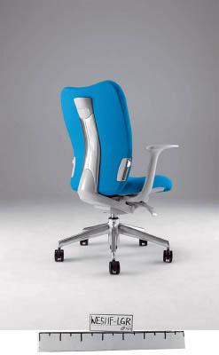【取寄】【ナイキ】ナイキ ミドルバックチェアー 「エネア」 肘付き 布 ライトブルー ZE511FLBL[ナイキ 椅子オフィス住設用品オフィス家具オフィスチェア]【TN】【TC】