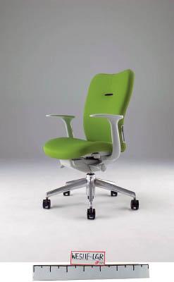 【取寄】【ナイキ】ナイキ ミドルバックチェアー 「エネア」 肘付き 布 ライトグリーン ZE511FLGR[ナイキ 椅子オフィス住設用品オフィス家具オフィスチェア]【TN】【TC】