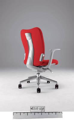 【取寄】【ナイキ】ナイキ ミドルバックチェアー 「エネア」 肘付き 布 レッド ZE511FRE[ナイキ 椅子オフィス住設用品オフィス家具オフィスチェア]【TN】【TC】