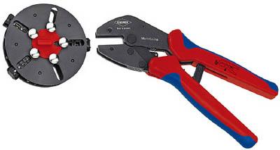 【KNIPEX】KNIPEX 9733-02 マルチクリンプ マガジン付圧着工具 973302[KNIPEX ハンドツール作業用品電設工具圧着工具]【TN】【TC】
