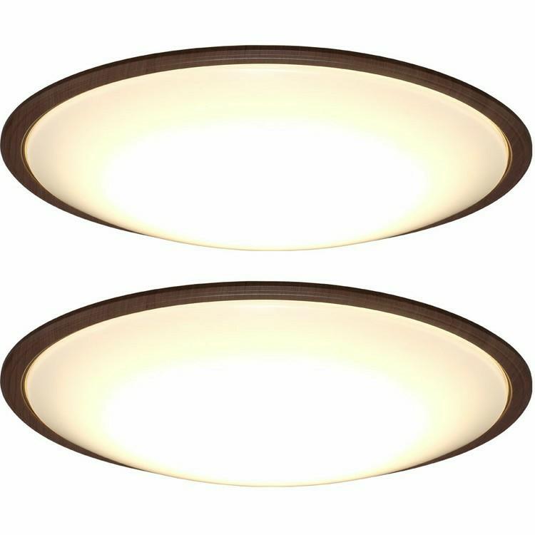 LEDシーリングライト 2個セット メタルサーキットシリーズ ウッドフレーム 14畳 調色 CL14DL-5.1WF 薄型シーリングライト LED 高効率 取り付け簡単 LED 調光 調色 木目 ウッド ウォールナット ナチュラル IRISOHYAMA アイリスオーヤマ シンプル
