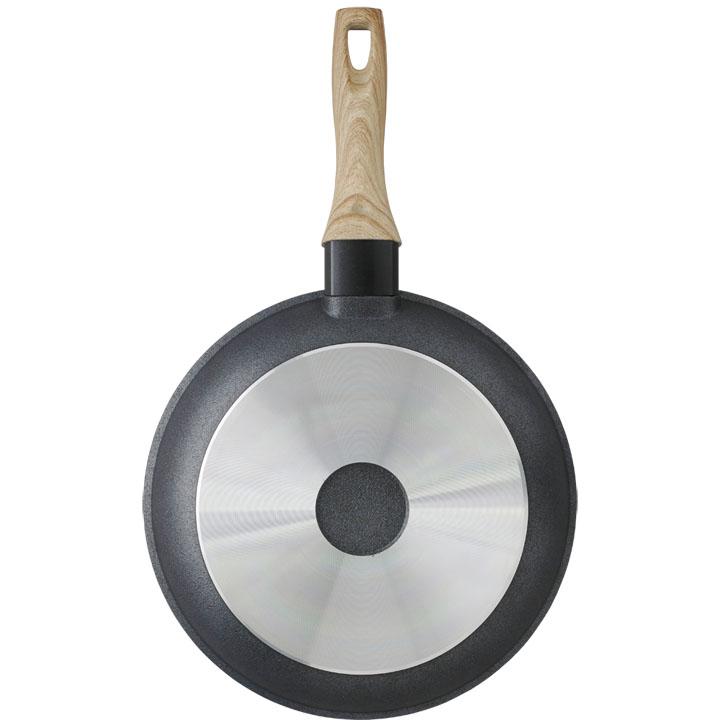 スキレットコートパン 24cm ブラック SKL-24IH IH すきれっと スキレットパン アルミ 軽い かるい おしゃれ インスタ フッ素コーティング キャンプ アウトドア 調理器具 フライパン アイリスオーヤマ