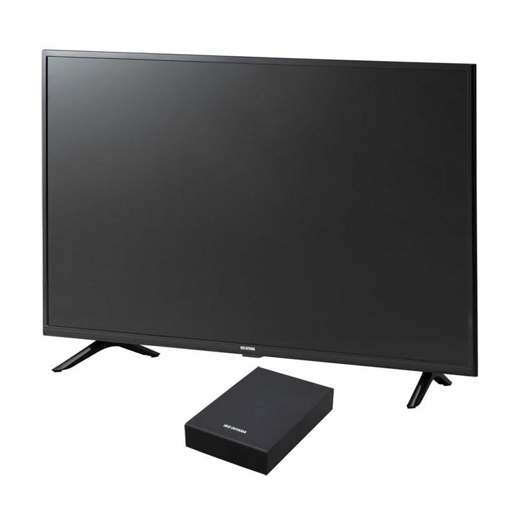 テレビ Fiona 40型 外付けHDDセット品送料無料 テレビ HDD セット TV 2K 40V 40型 外付け ハードディスク アイリスオーヤマ