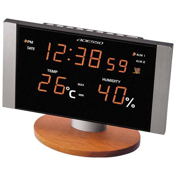 電波時計 C-8305-OR電波時計 置き時計 掛け時計 掛け時計 目覚まし時計 時計 アラーム 温度計 湿度計 電波時計掛け時計 電波時計アラーム 置き時計掛け時計 掛け時計電波時計 アラーム電波時計 掛け時計置き時計 アデッソ【D】