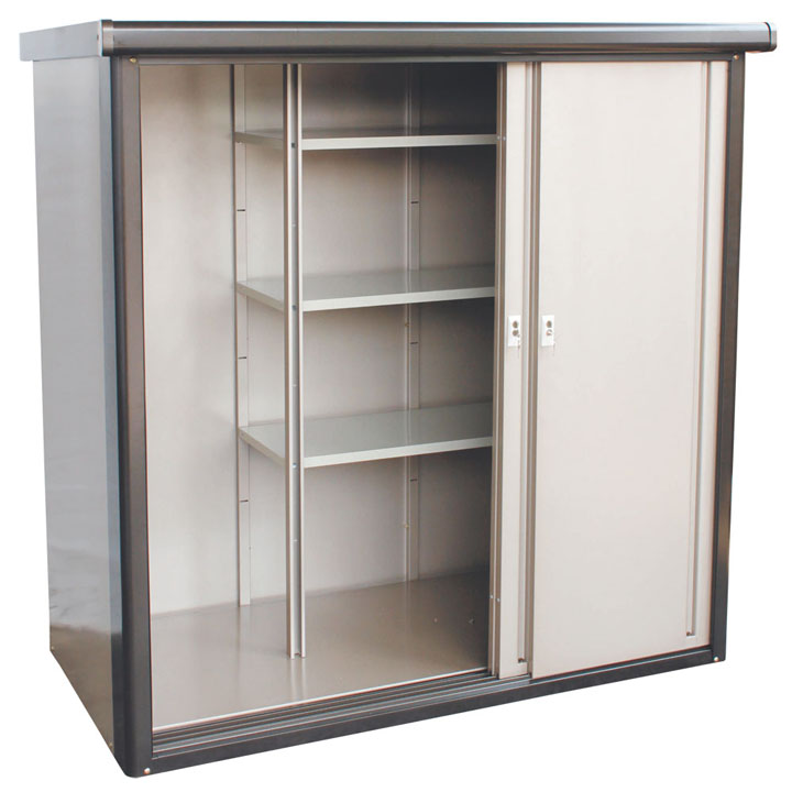 収納庫 ブロンズ 3M2-1675送料無料 物置 収納庫 小型 屋外 家庭用 ダイマツ 【TD】 【代引不可】
