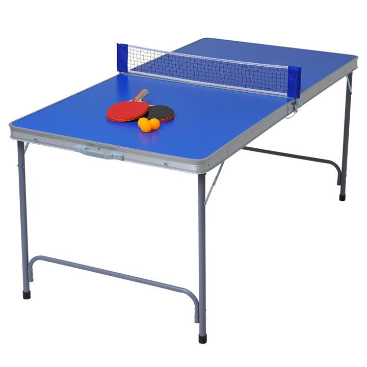ファミリーピンポン台 tan-595送料無料 卓球台 ピンポン 家庭用 テーブル 折りたたみ 【TD】 【代引不可】